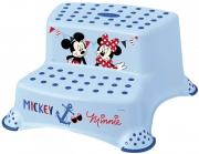 Ступень-лавочка на две ступеньки Mickey голубая 1950.1