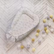 Кокон для новорожденных Baby Design премиум Короны