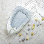 Кокон для новорожденных Маленькая Соня Mon Cheri серый (двухсторонний)