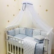 Постельный комплект Baby Design Премиум Короны 7 ед.