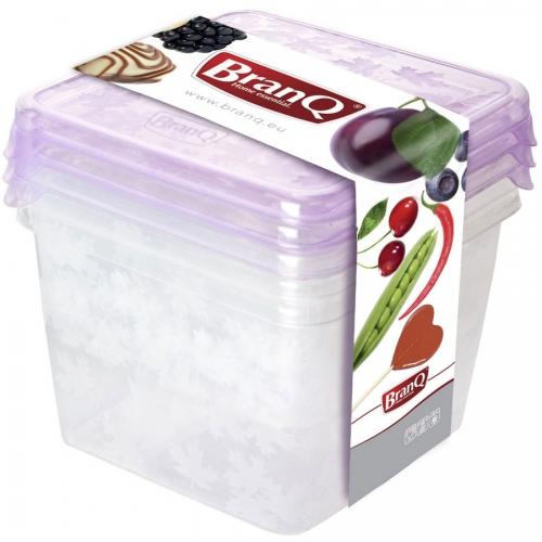 "Комплект емкостей для морозилки квад.""RUKKOLA"",3шт(2*0,45л+0,75л)"