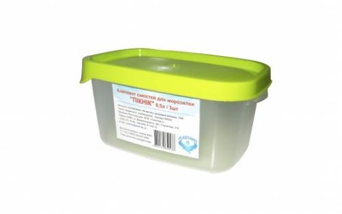 Комплект  емкостей для морозилки PLASTIMIR ПИКНИК (3*0,5л)
