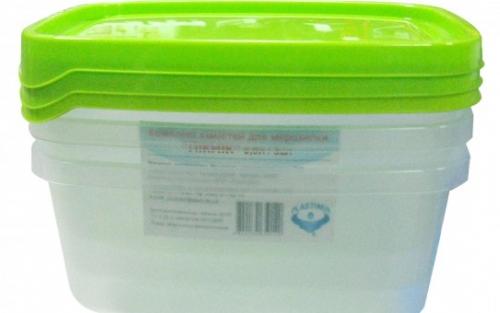 Комплект  емкостей для морозилки PLASTIMIR ПИКНИК (3*0,9л)