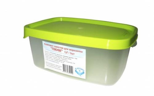 Комплект  емкостей для морозилки PLASTIMIR ПИКНИК (3*1,2л) 50006