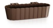 Балконный ящик навесной 400мм коричневый 25302-222