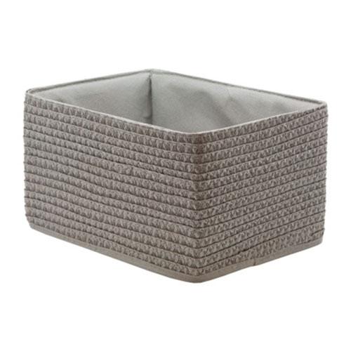 Короб прямоугольный серый S