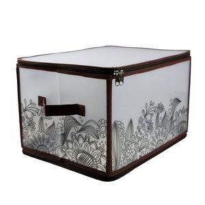 Коробка для хранения Handy Home на молнии коричневая, L