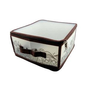 Коробка для хранения Handy Home на молнии коричневая, М