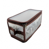 Коробка для хранения Handy Home на молнии коричневая, S