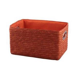Корзина прямоугольная оранжевая 5
