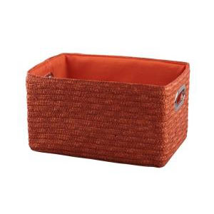Корзина прямоугольная оранжевая 4