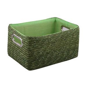 Корзина прямоугольная зеленая XL