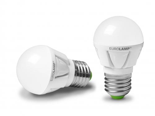 EUROLAMP LED Лампа G45 5W E27 4000K прозора