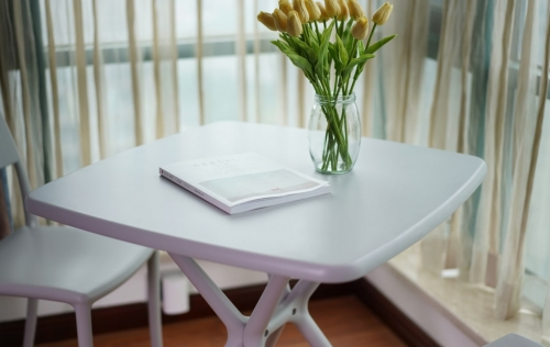 Стол обеденный для кафе, кухни, террасы I SIT Furniture NOON, Пластик Белый