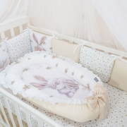 Кокон для новорожденных Маленькая Соня Magic Зайка золото