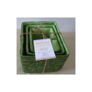 Набор корзин прямоугольных зеленых