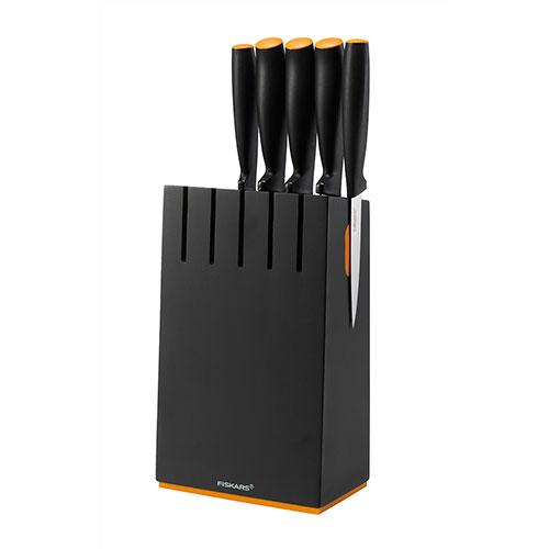Набор ножей Functional Form с чёрной подставкой, 5 шт