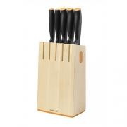 Набор ножей Functional Form с деревянной подставкой, 5 ш