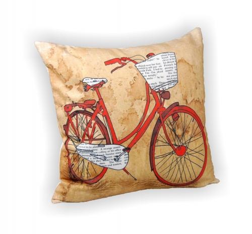 Наволочка декоративная «Велосипед»