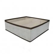 Короб складной с пластиковым органайзером 30х30х10см Серый