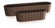 Балконный ящик Boardee Case коричневый 400мм 25180
