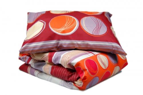 Односпальный комплект постельного белья эконом «Круги»