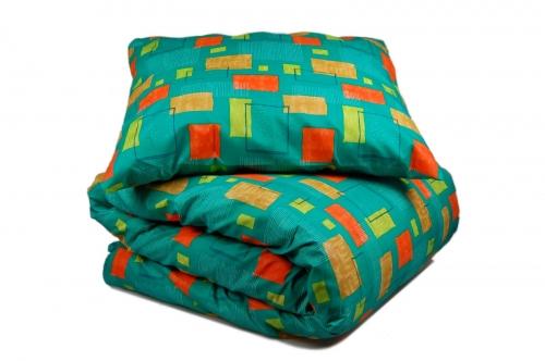 Односпальный комплект постельного белья эконом «Геометрия»