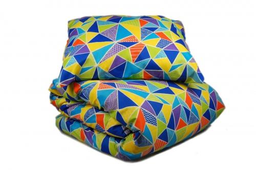 Односпальный комплект постельного белья эконом «Калейдоскоп»
