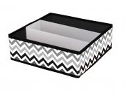 Короб складной Zigzag с пластиковым органайзером 30х30х10 см
