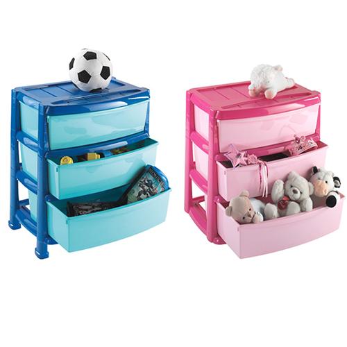 Пластиковый комод Professional на 3 ящика детский
