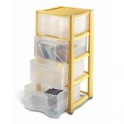 Пластиковый комод Professional на 4 ящика прозрачный