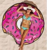 Пляжный коврик Пончик розовый (Donut) 140 см