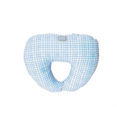 Подушка под голову Голубая клетка