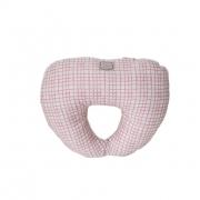 Подушка под голову Розовая клетка