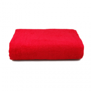 Полотенце махровое, красное
