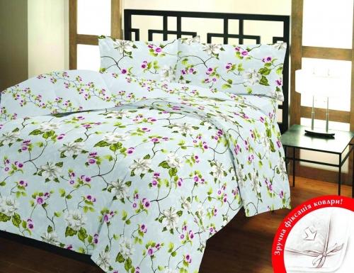 Полуторный (евро) комплект постельного белья Бязь «Каприз»