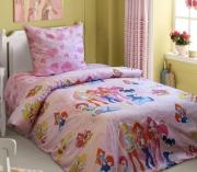 Полуторный комплект постельного белья «Фея вінкс»