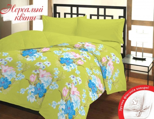 Полуторный комплект постельного белья Бязь «Нереальные цветы»