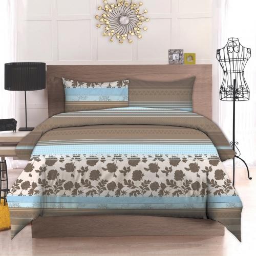 Полуторный комплект постельного белья Бязь премиум «Сепія»