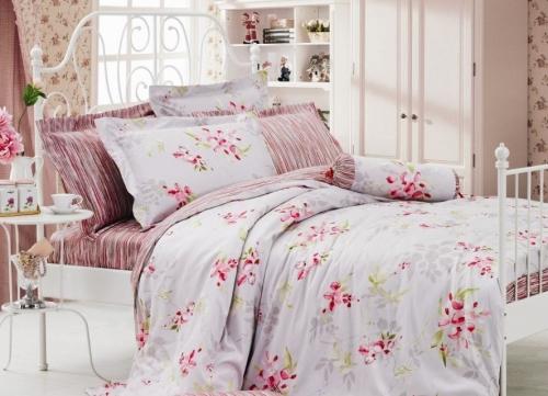 Полуторный комплект постельного белья Сатин «Ариадна»