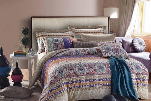 Полуторный комплект постельного белья Сатин «Изольда»