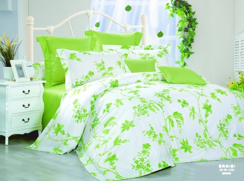 Полуторный комплект постельного белья Сатин «Натюрель»