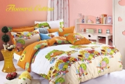 Полуторный комплект постельного белья Сатин «Радость»