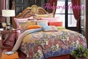 Полуторный комплект постельного белья Сатин «Альнаир»
