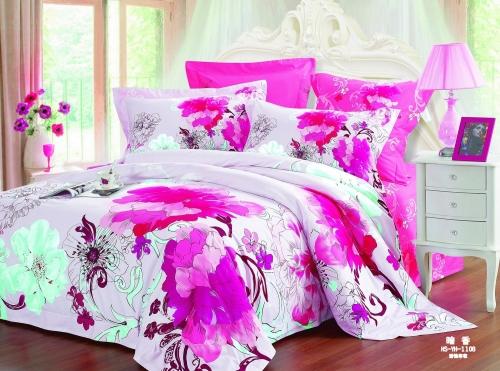 Полуторный комплект постельного белья Сатин «Богема»