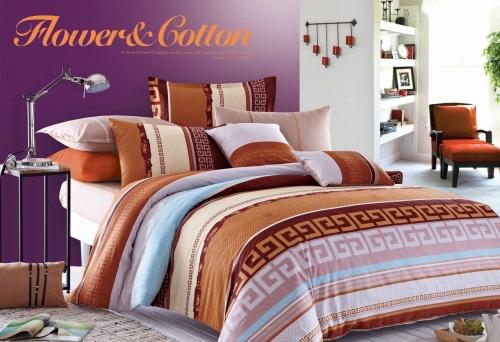Полуторный комплект постельного белья Сатин «Греция»