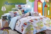 Полуторный комплект постельного белья Сатин «Карандаши»