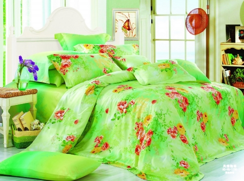 Полуторный комплект постельного белья Сатин «Летний день»