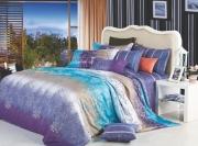 Полуторный комплект постельного белья Сатин «Виола»