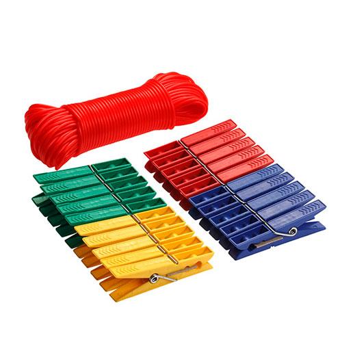 Прищепки 20 шт+ шнур 20м(72 мм)